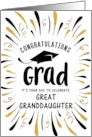 Graduation Congratulations Great Granddaughter with Festive Streamers card