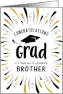 Graduation Congratulations Brother with Festive Streamers card