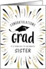 Graduation Congratulations Sister with Festive Streamers card