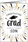 Graduation Congratulations Son with Festive Streamers card