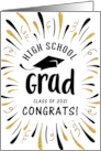 Congratulations 2021n High School Grad with Festive Streamers card