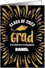 Custom Name Congratulations Class of 2021 Grad with Festive Streamers card