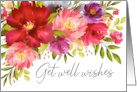 Get Well Wishes Watercolor Spring Garden Flowers card