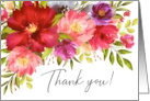 Thank You Watercolor Spring Garden Flowers card