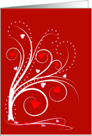 Valentine Sweetheart Tree-Red card
