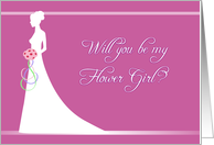 Be My Flower Girl - Bridal Mauve card