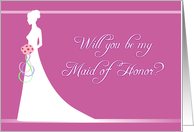 Be My Maid of Honor - Bridal Mauve card
