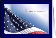 USA Flag - Forever in Peace card