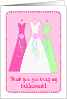 Bridesmaid Card - Thank You card
