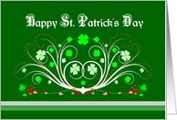 Happy St. Patrick's Day - Fancy Scrolls and Shamrocks card