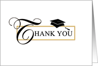 Graduation Thank You Card - Classic card