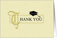 Graduation Thank You Card - Elegant Gold card