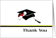 Graduation Thank You Card - Masculine card