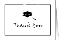 Graduation Thank You Card - Simply Stated card