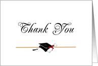 Graduation Thank You Card - Fancy Script card