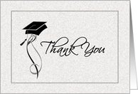 Graduation Thank You Card - Contemporary Script card