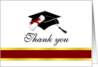 Graduation Thank You Card - Garnet and Gold card