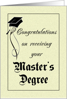 Graduation - Master's Degree card
