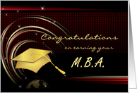 Graduation - Master's Degree - MBA card