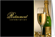 Retirement Party Invitations - Champagne Celebration card