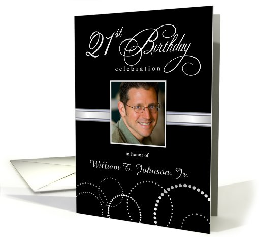 21st Birthday Party Invitations with Your Custom Photo -... (861083)