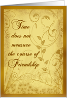 Friendship - Antique Grunge and Vine card