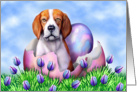 Beagle Easter Surprise card