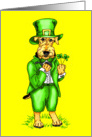 Airedale Terrier St. Patrick's Day Leprechaun Dog Yellow card