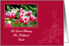 Spring Tulips Blessing Uncle Easter Card