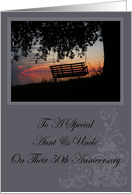 Scenic Beach Sunset Aunt & Uncle 50th Anniversary Card