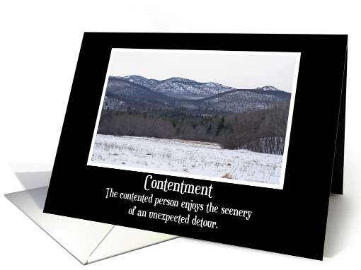 contentment Blank card (162009)