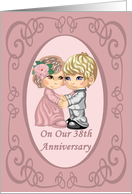 Adorable 38th Anniversary Card