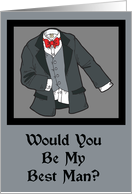 Tux Be My Best Man Card