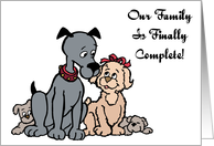 Complete Family Adoption Announcement Card