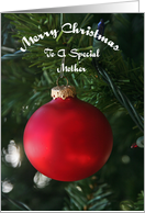 Red Ornament Special Mother Christmas Card