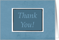 Blue Interview Thank You card