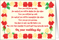 On Your Wedding Day Wedding Blessing card