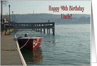 Fishing Boat Uncle 98th Birthday Card