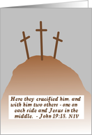 Good Friday Crosses card