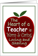 Heart of a Teacher, Big Red Apple card
