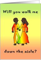 Couple African American - Walk down Aisle card