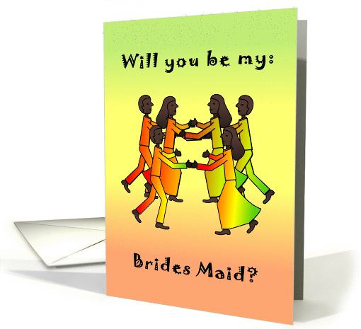 Dance African American - Will You be my Brides Maid? card (131905)