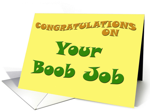 Congratulations on Your Boob Job card (78562)