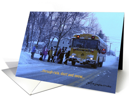 Bus driver thank you card (186022)