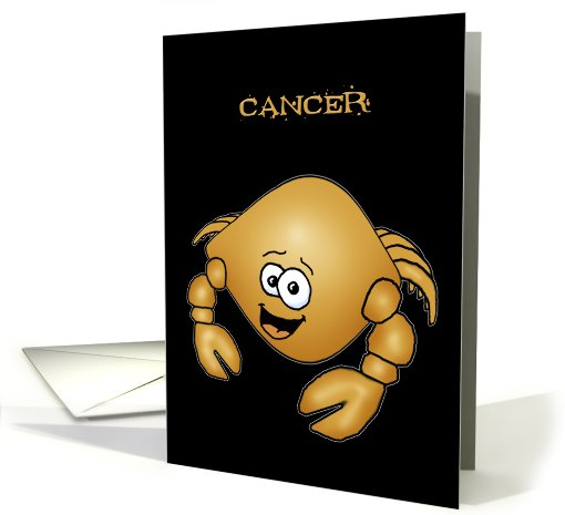 Zodiac Cancer Crab birthday Cartoon card (602136)