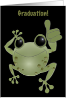 Graduation. Toadally Awesome! Cartoon toad. card
