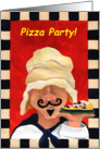 Pizza Party Invite card