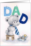 Happy Father's Day, Cute Bear with Letter DAD card