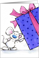 happy birthday mouse card