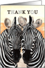 Thank You Zebra Print Zebras Theme Painting card